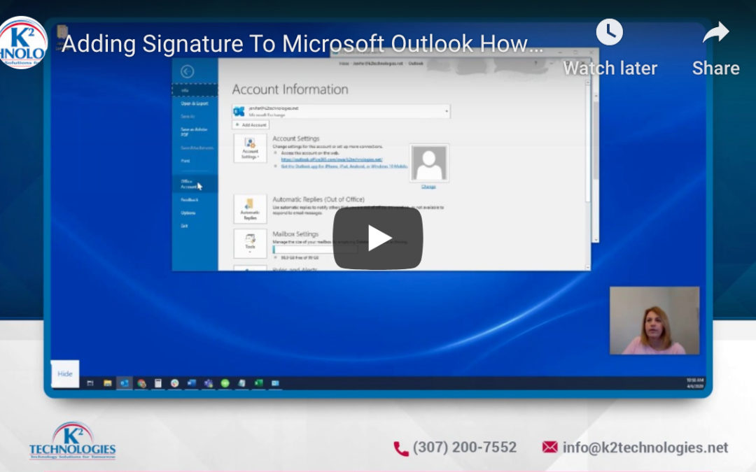 Create a Professional Signature in Microsoft Outlook